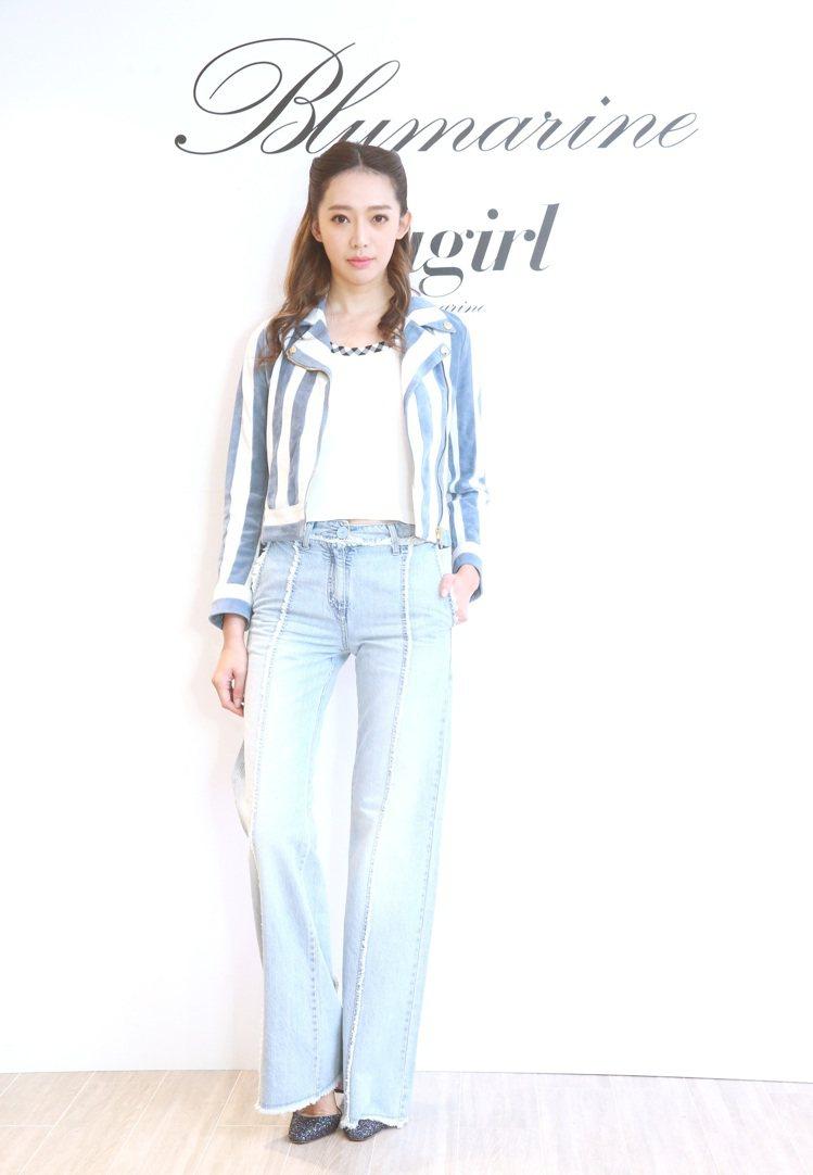 服裝品牌Blumarine今天舉行春夏發表,並邀請王心恬等名模走秀。圖/記者胡經...