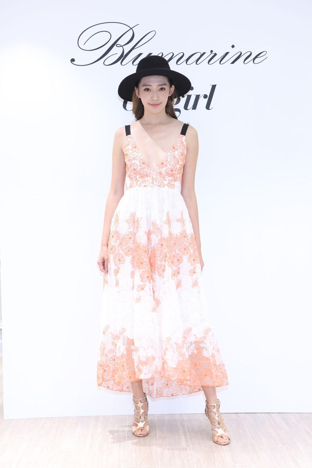 王心恬穿Blugirl洋裝,55,500元。圖/Blumairne提供