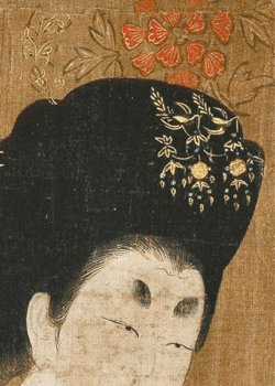 周昉〈簪花仕女圖〉局部。 圖/現藏於遼寧博物館