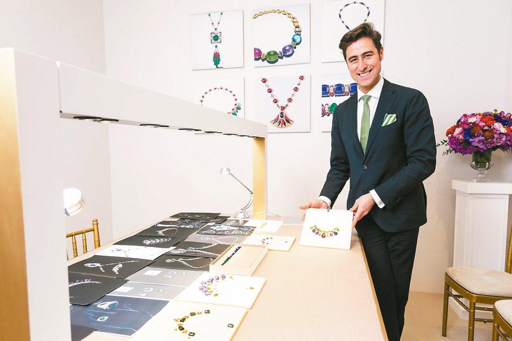 寶格麗全球頂級珠寶資深總監Giampaolo Della Croce專程來台,並...
