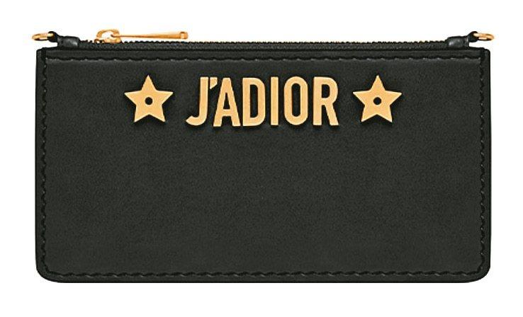 Dior春夏以黑色小牛皮打造「JADIOR」手機套、手機皮夾(將法語的「Jado...