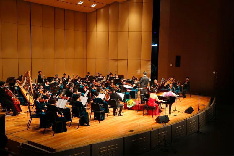 「梁祝•愛之交響」音樂會昨天下午在台藝大演出。 記者賴錦宏/攝影