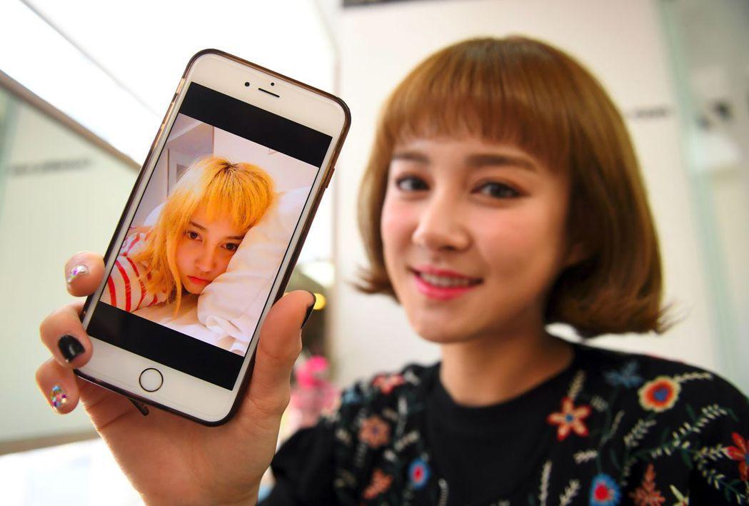 香腸姑娘團員金妲蓉(音譯,Kim Da-Young,別名Da-In)整形前(手機...