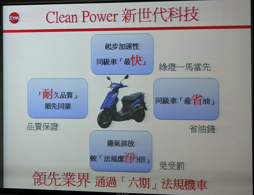Z1 Attila搭載新世代科技Clean Power引擎,完全符合六期環保法規,排放潔淨度較法規嚴苛3倍,為同級車最省油且品質耐久。 記者林和謙/攝影
