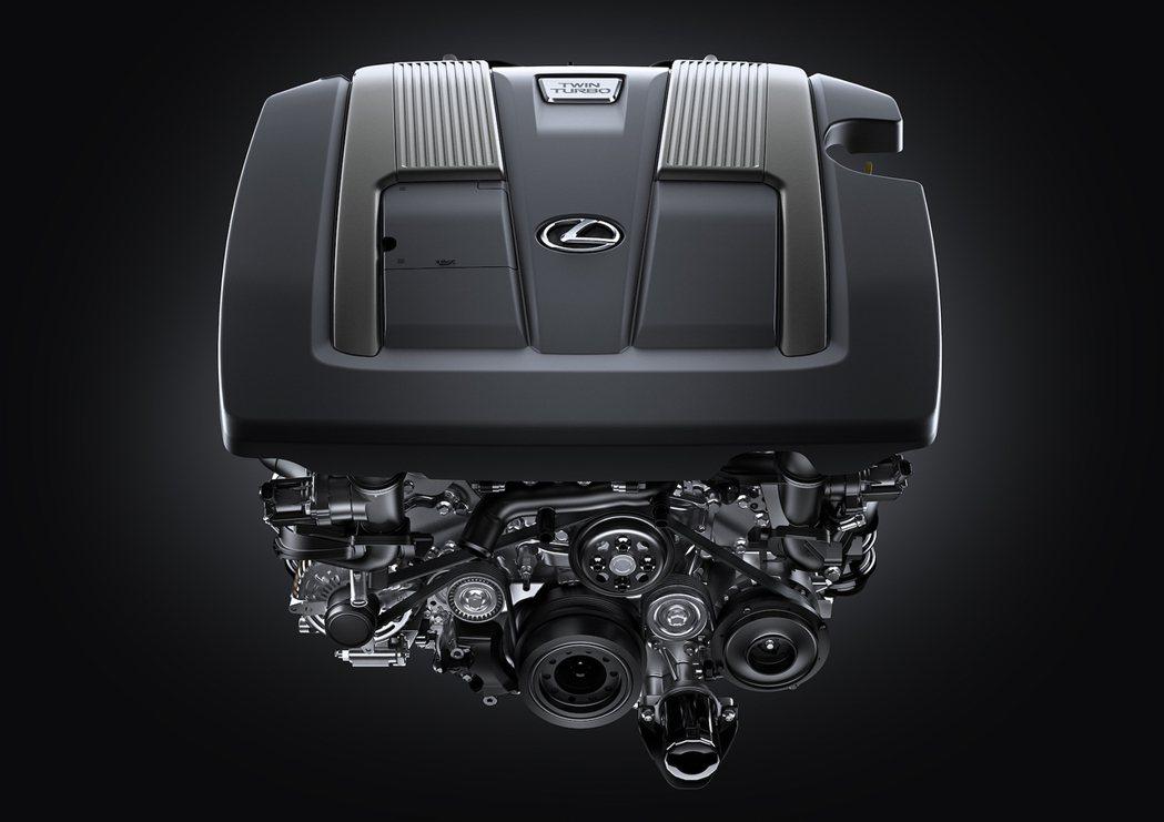 Lexus全新LS 500的V6雙Turbo引擎。 圖/Lexus提供