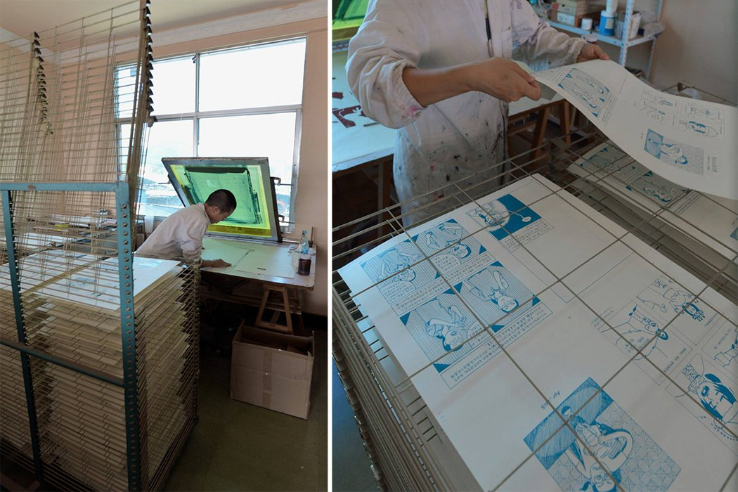 每一本書的絹印流程,由珮珊自己進行操作。 圖/取自慢工出版臉書粉絲團