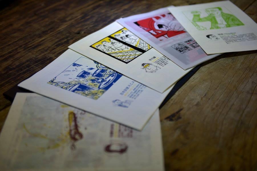 由左至右:黃立佩〈地藏的碎形〉、楊鈺綺〈忍冬序號R.C.A〉、Candy Bir...