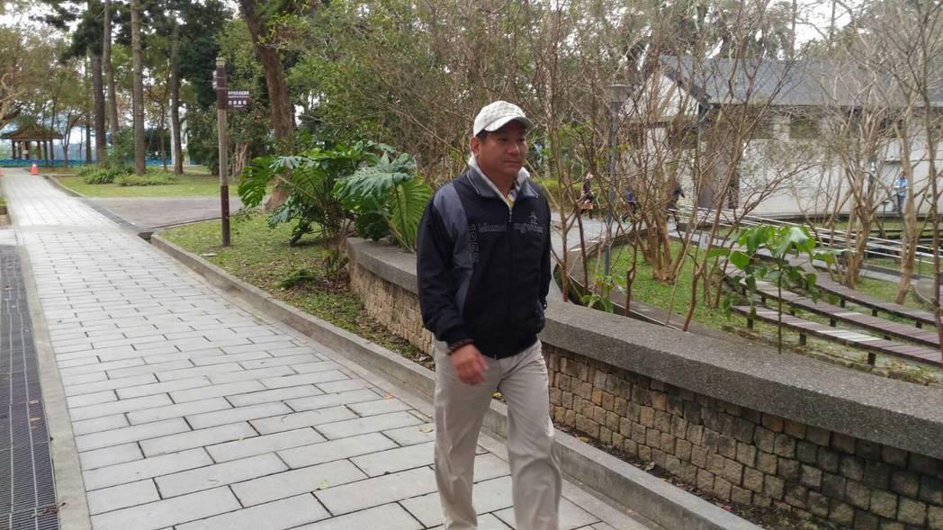 大溪分局長林信雄快走運動。 記者張雅婷/攝影