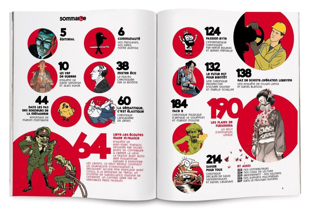 法國La Revue Dessinée雜誌內頁。