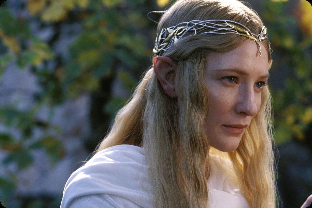 凱特布蘭琪在「魔戒」系列中的精靈女王角色,頗受觀眾歡迎。圖/摘自imdb