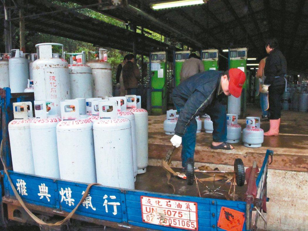 勞動部下周將預告瓦斯批發業、桶裝瓦斯零售業都納入「四周彈性工時」行業。 本報資料...