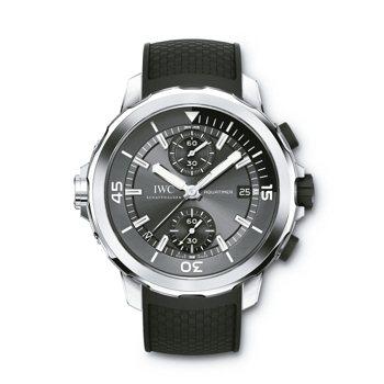 海洋時計計時腕表「鯊魚」特別版, 39萬8,000元,限量500只。 圖/IWC...