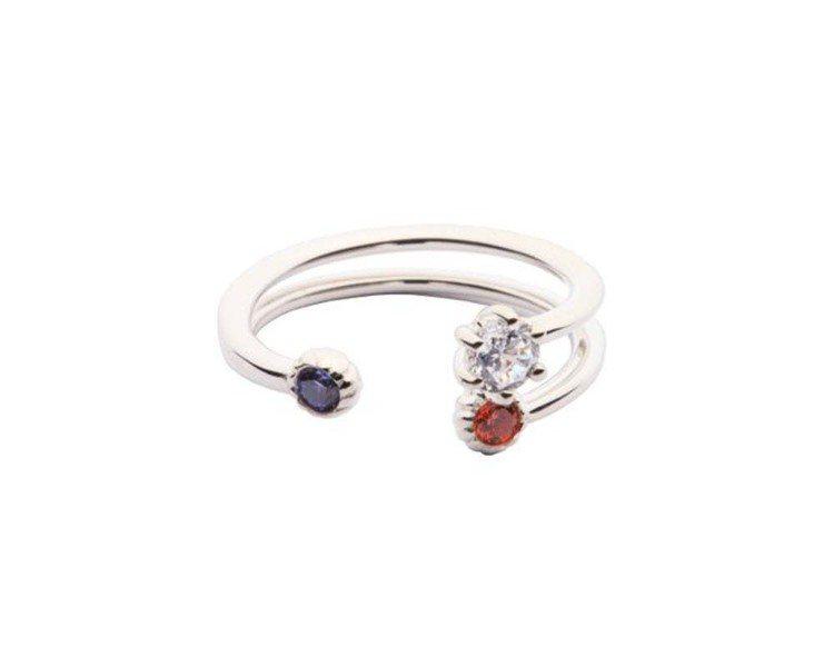 La Mer系列以玫瑰金或純銀為基調,鑲飾施華洛世奇zirconia彩色寶石,繽...