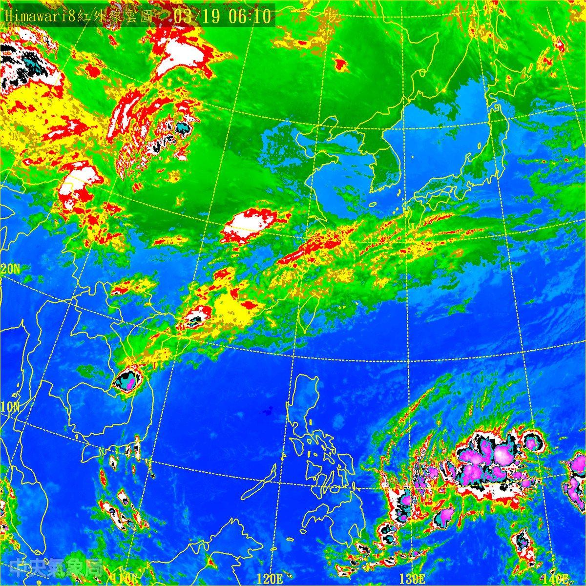 華南雲系正在東移,結構不算厚實。儘管層狀雲降雨,雨勢並不會很大,但仍會帶來大範圍的降雨;降雨現象由北而南逐漸遞減。圖/翻攝自氣象局網站