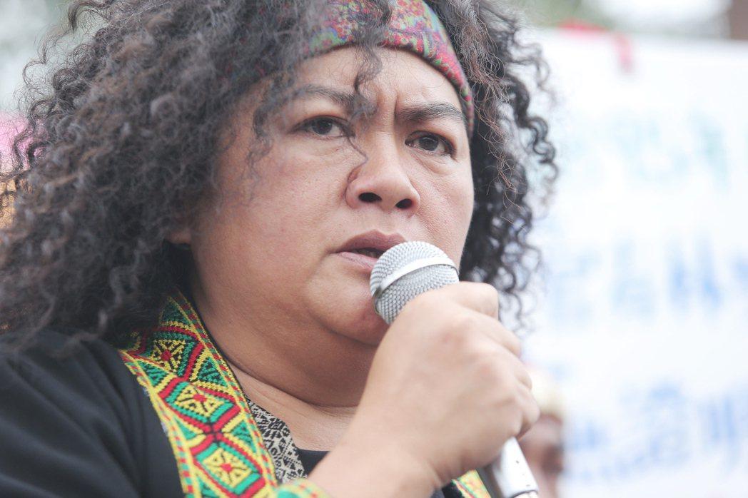 曾在蔡英文總統就職典禮演出的巴奈,今天下午參與原民團體在凱道上的記者會,表示「這...