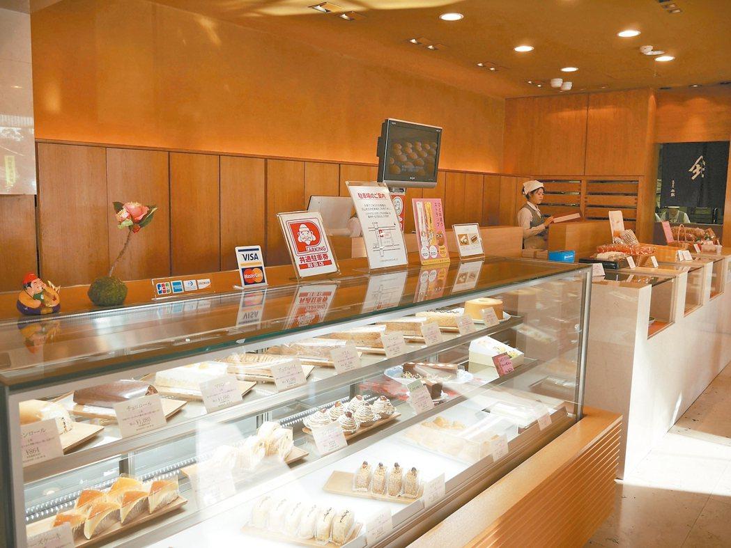 傳統的「北島」甜點鋪,現在也賣起多款洋果子。 圖/蘇曉音
