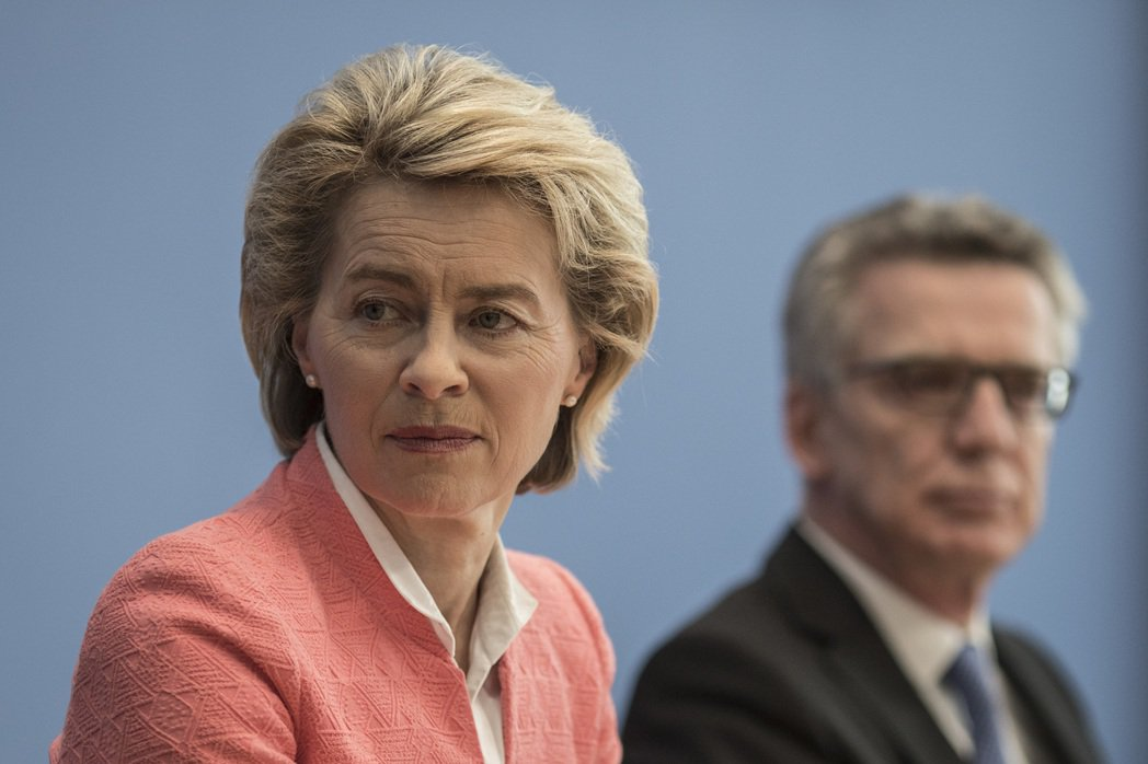 德國國防部長范德賴恩。歐新社