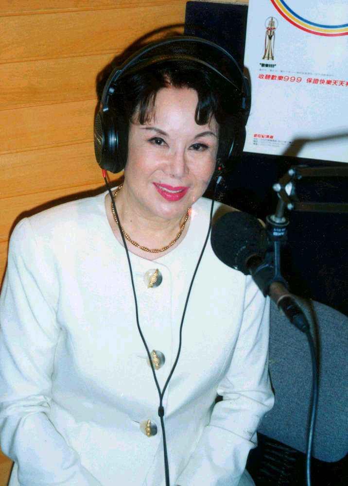 李麗華曾跨行廣播,主持節目。圖/本報資料照
