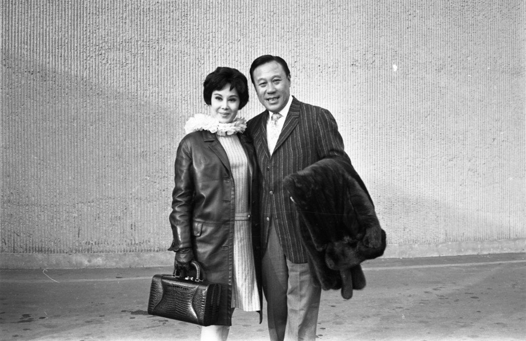 邵氏女星李麗華(左)與夫婿嚴俊(右)。圖/本報資料照