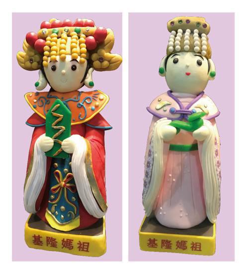 慶安宮的「基隆媽」公仔造型討喜。 記者吳淑君/攝影