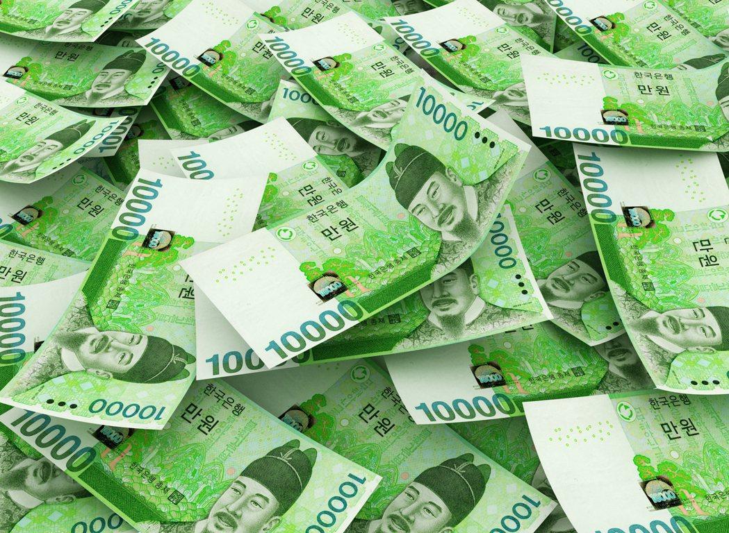 韓元強勢帶動 新台幣升值1.4分開出