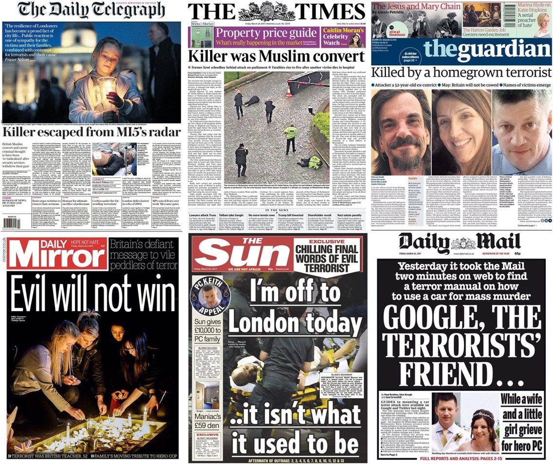 2017年3月24日。劫後讀報:英國會恐攻,毫無預兆的行兇者?