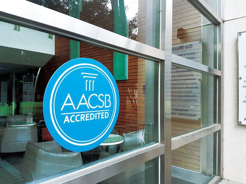 通過AACSB國際認證是全球許多商管學院努力的目標。 攝影/鄺海音