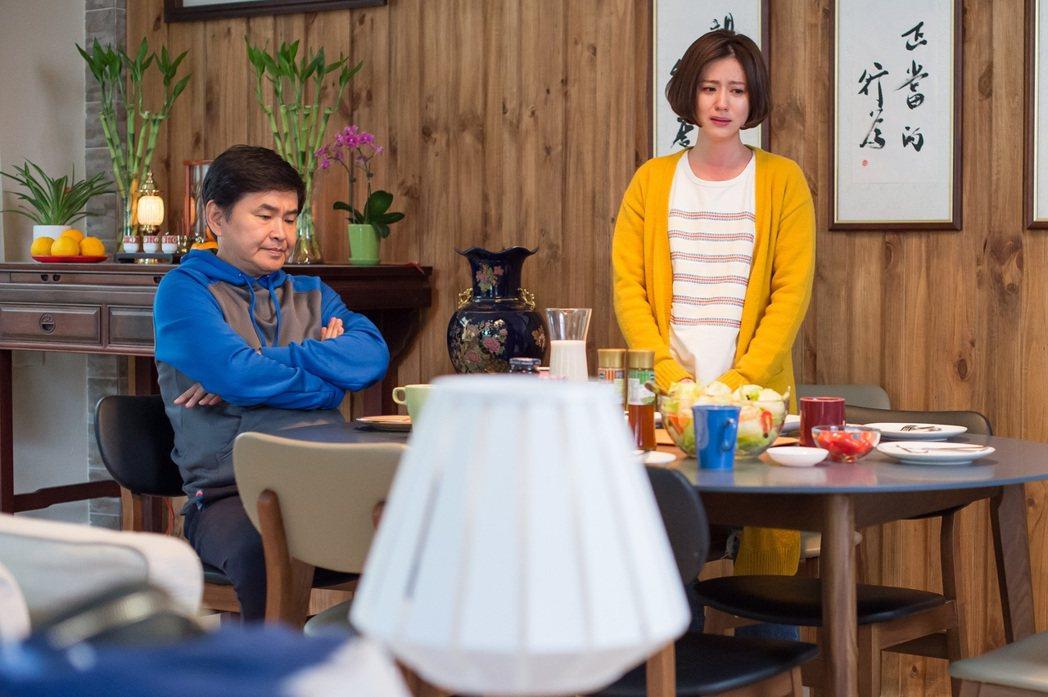 賀一航(左)在劇中得知兒子「鬧出人命」大怒。圖/TVBS提供