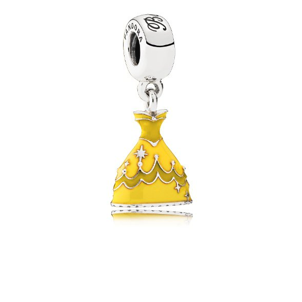 貝兒裙子黃色琺瑯純銀吊飾,2,780元。圖/PANDORA提供