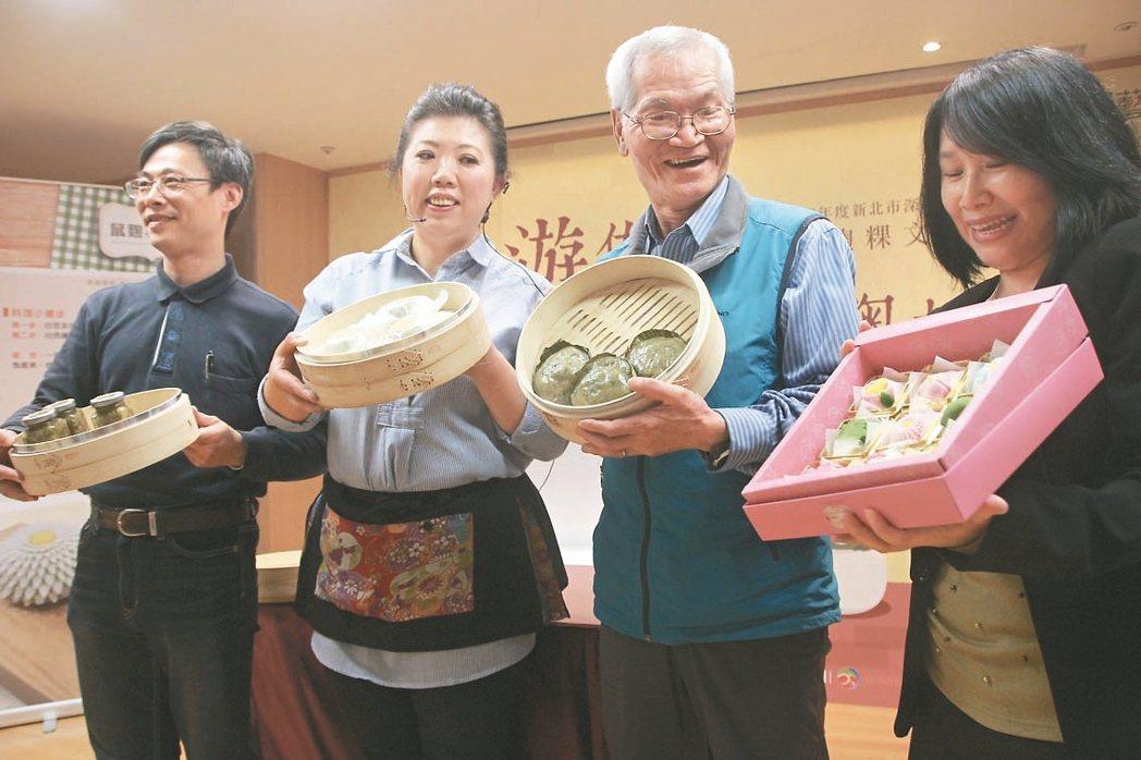 深坑鼠麴草文化祭今年邁入第3屆,找來美食家阿芳老師(左二)和東南科技大學餐旅系合...