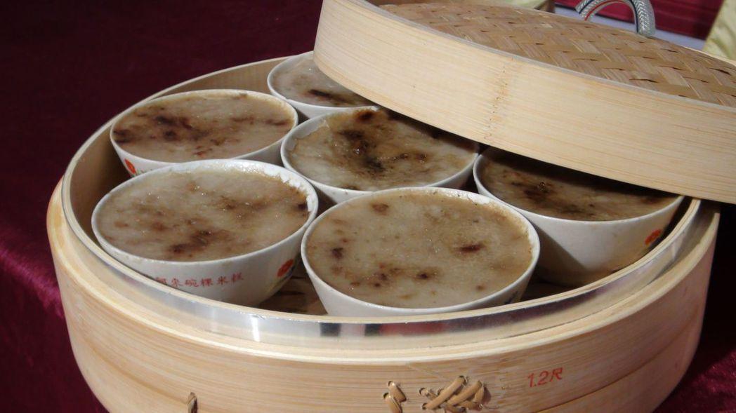 「阿來碗粿企業社」的產品保有樸素的古早味。 記者王慧瑛/攝影
