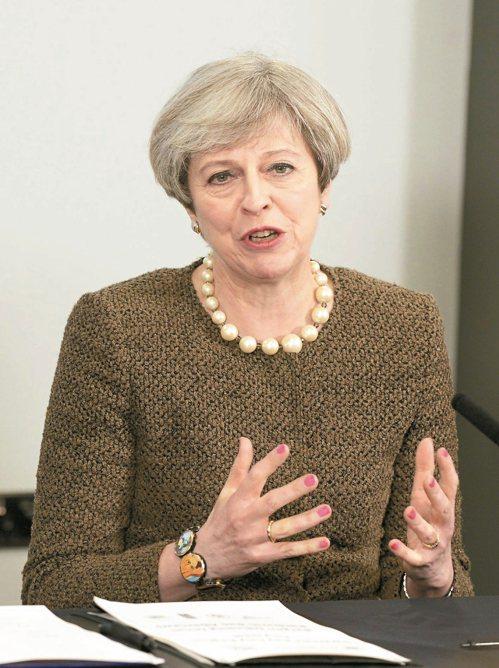 英首相梅伊廿日通知歐盟,將啟動歐盟里斯本條約第五十條脫歐條款。 美聯社