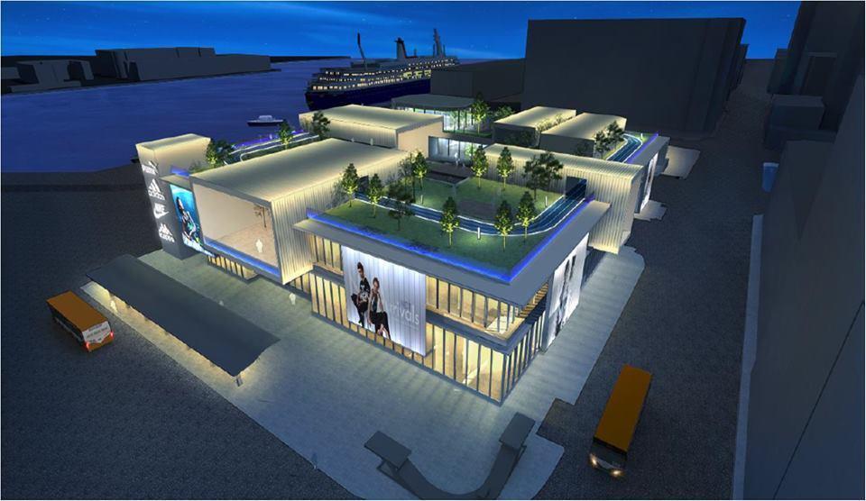 基隆市東岸商場完工後,樓上有跑道有兒童遊戲場。 圖/大日開發有限公司提供