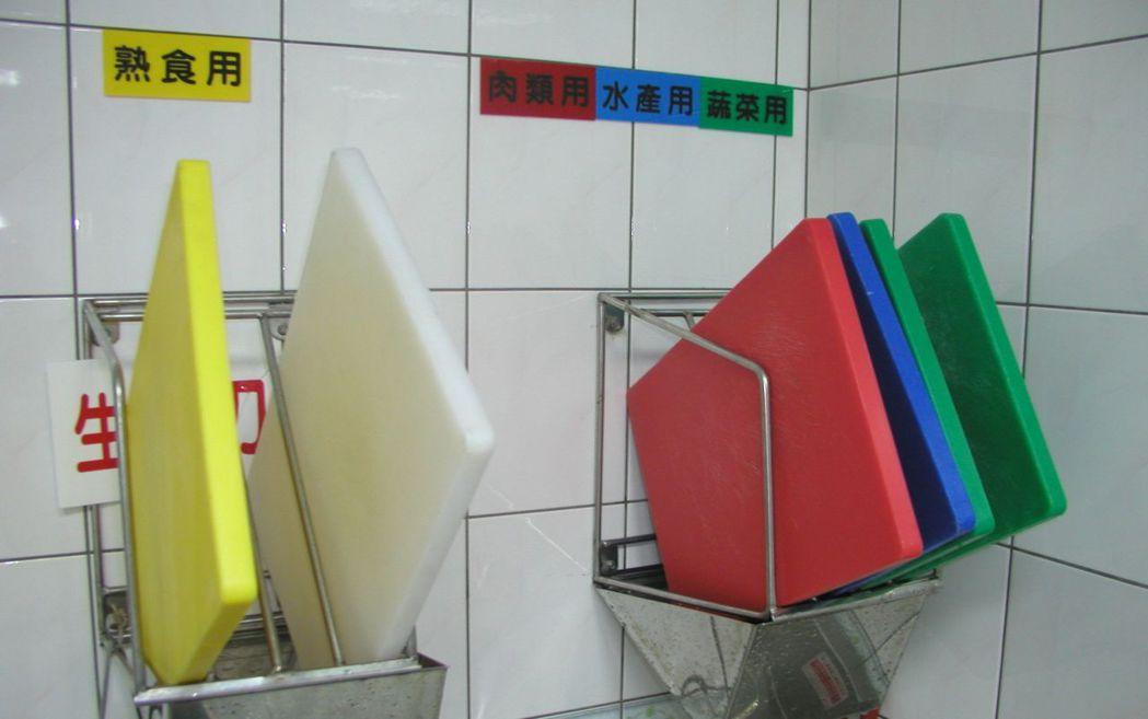 食物料理過程要非常小心,砧板若沒洗乾淨,就可能傳播病菌。 本報資料照片