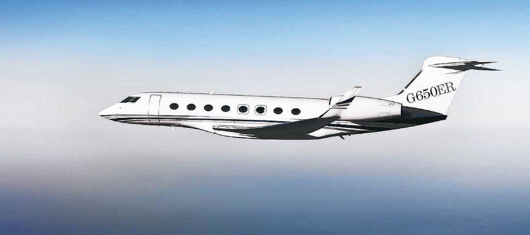 灣流G650ER型飛機,一架約台幣20億。 圖/取自灣流航太官網