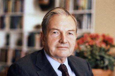 億萬富豪慈善家大衛.洛克斐勒(David Rockefeller)今天辭世,享壽...