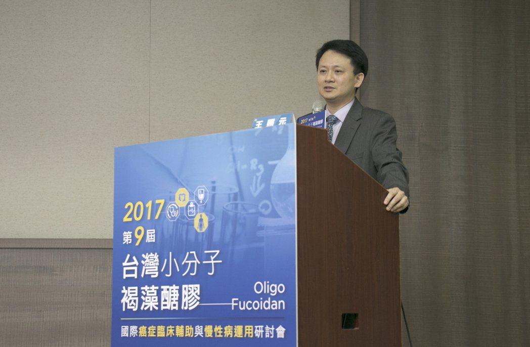 高雄醫學大學附設醫院王照元副院長。台灣褐藻醣膠發展學會/提供