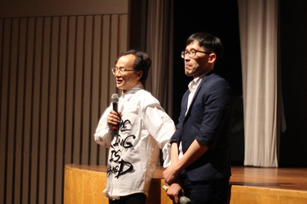 《一個人的收藏》香港巴賽爾藝術展世界首映監製姚謙(左)、導演徐浩軒(右)映後分享