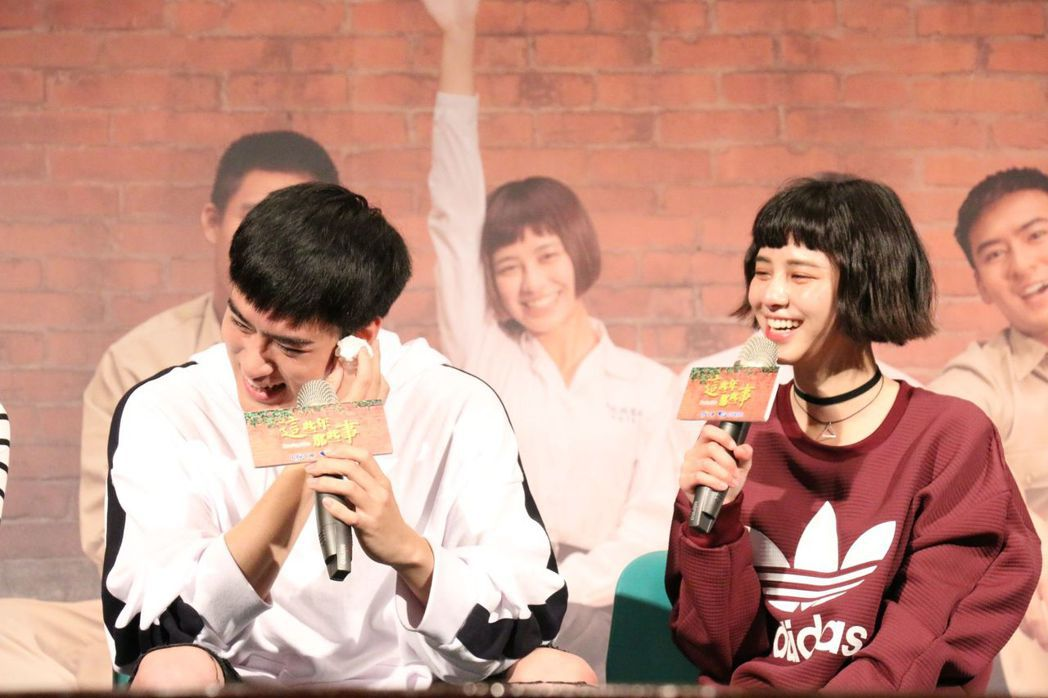 沈建宏、劉宇珊出席校園試片會,分享拍戲甘苦。圖/中天提供