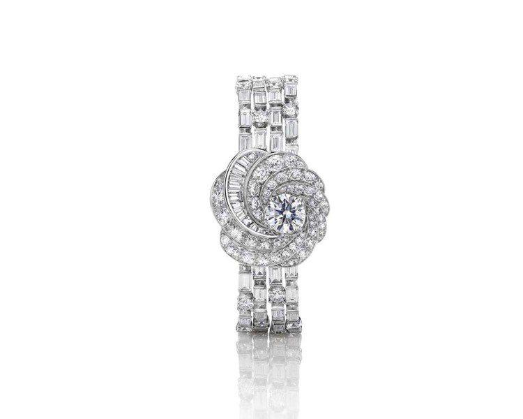 De Beers Aria高級珠寶手環。圖/De Beers提供