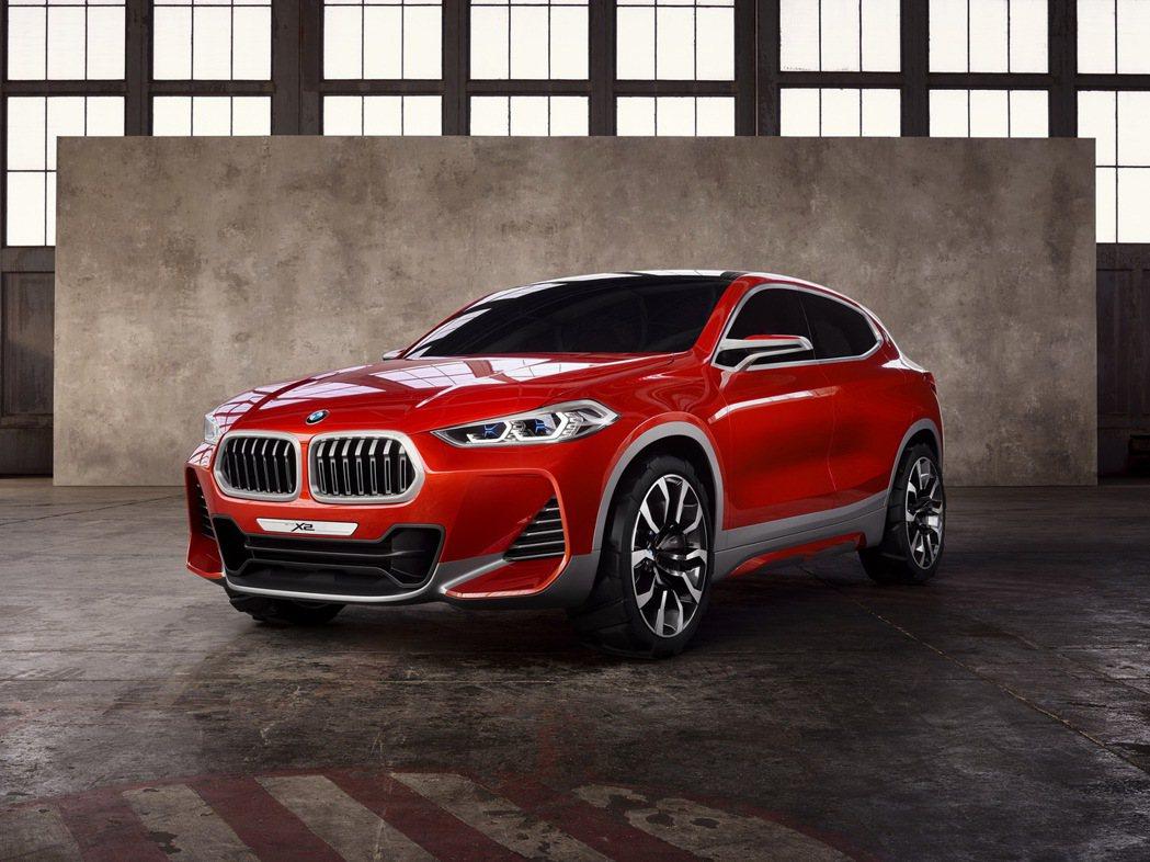 BMW Concept X2概念車榮獲「iF Design Award 2017」設計大獎。 圖/汎德提供