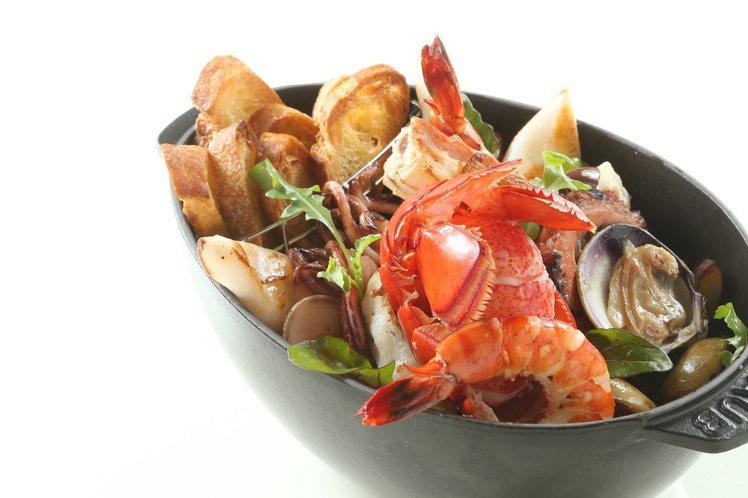 葡萄牙式海鮮燉鍋。圖/文華東方提供