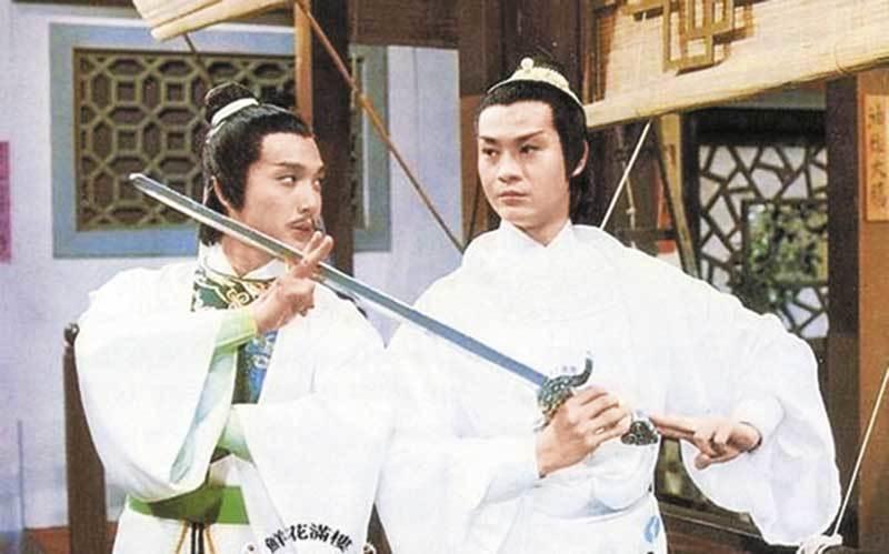鄭少秋在「陸小鳳之決戰前後」演反派,和劉松仁飆戲。圖/摘自新視網