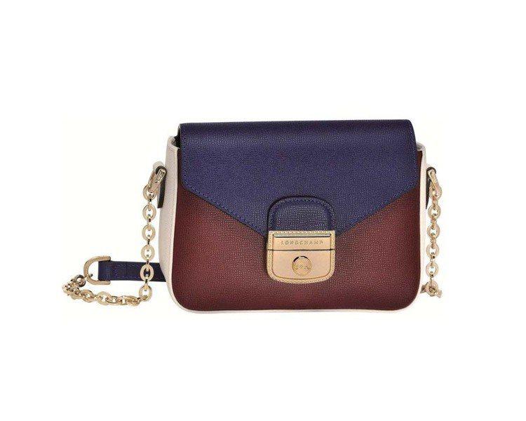 Longchamp潻紅靛藍拼貼LE PLIAGE HERITAGE TRICOL...