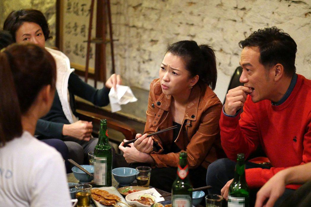 張翰(右)、六月在劇中演夫妻。圖/TVBS提供(※ 提醒您:禁止酒駕 飲酒過量有...