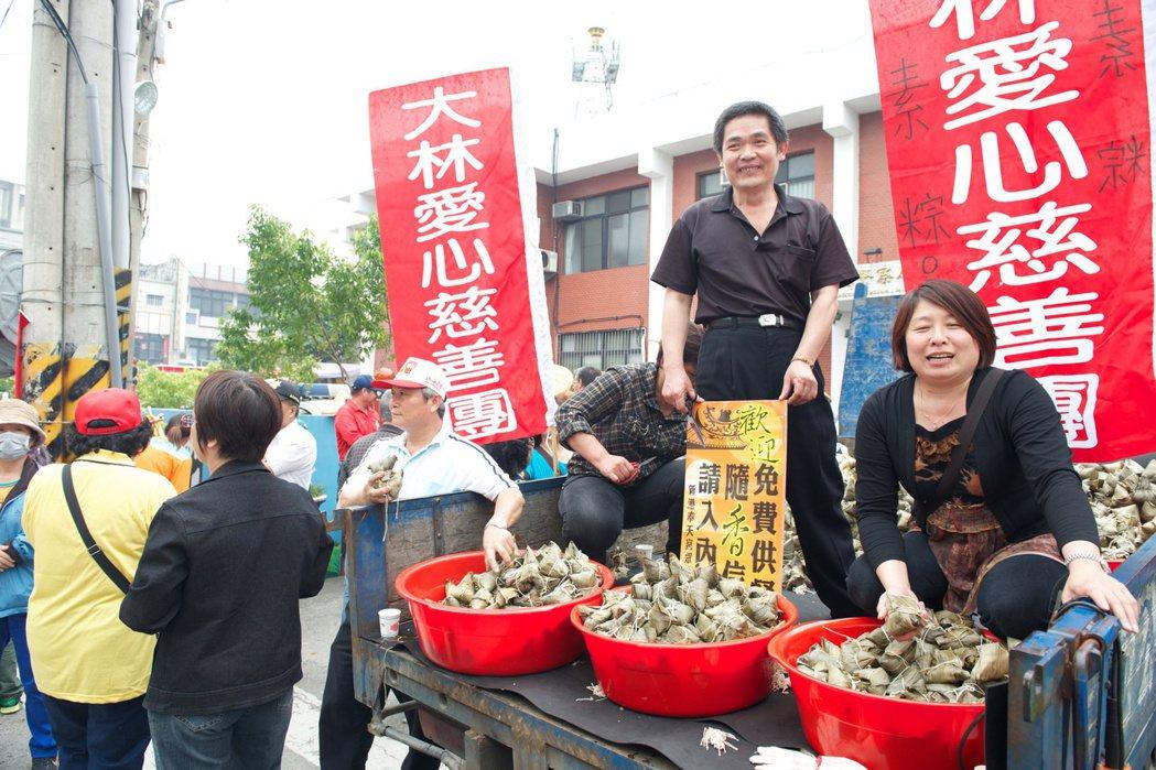 大林慈善團的菜粽。 圖/本報資料照片