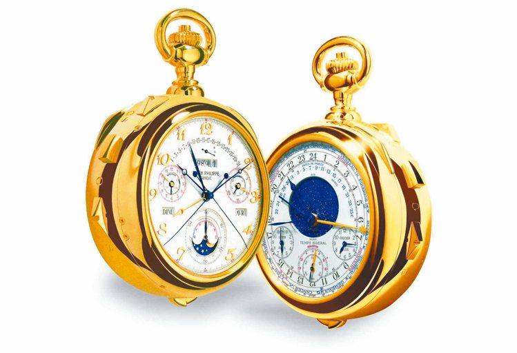 百達翡麗150週年鉅作Calibre 89懷錶。 圖/各業者提供