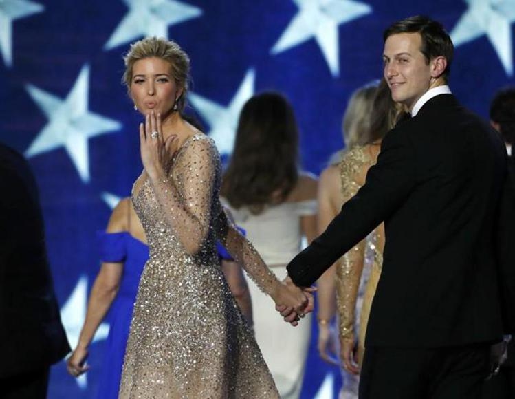 伊凡卡和老公Jared Kushner。圖/擷自dailystar