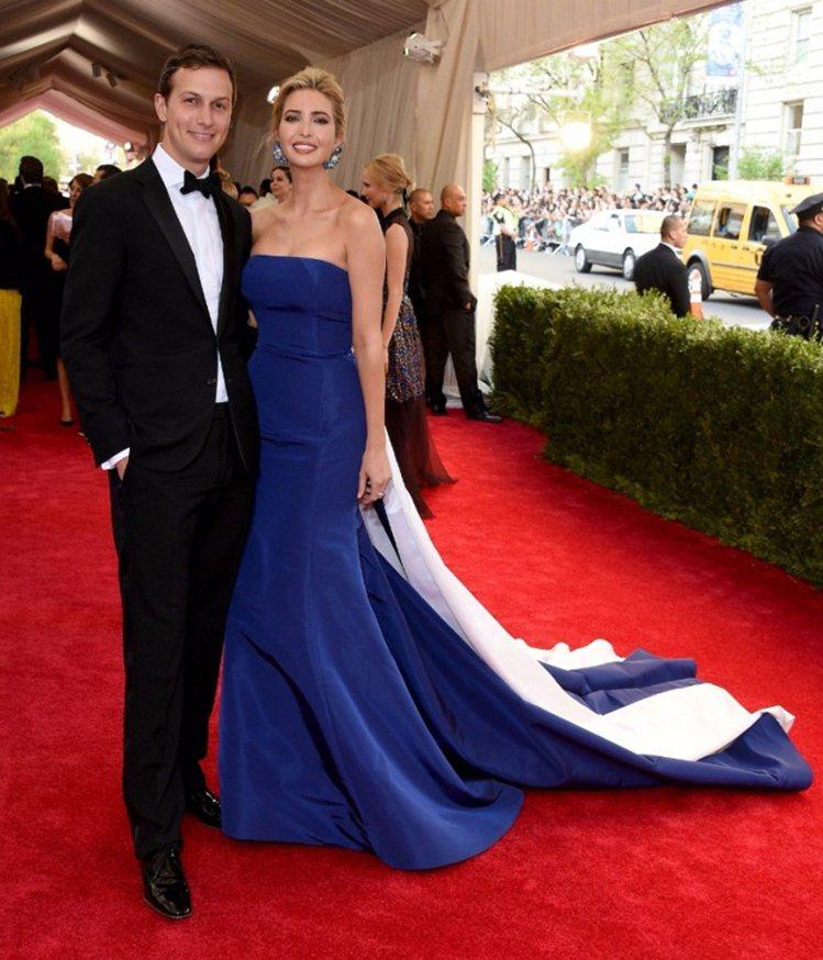 伊凡卡和老公Jared Kushner。圖/擷自pinterest