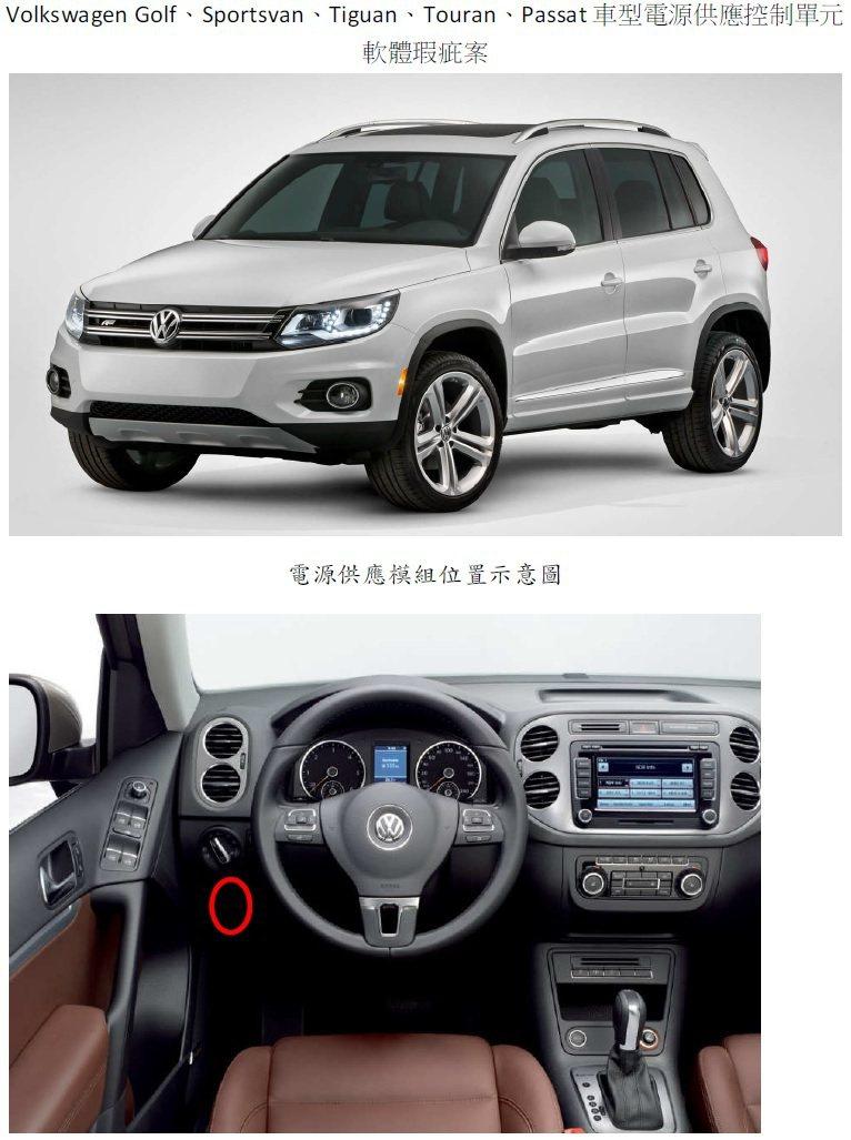 此次 Volkswagen 召修車款為 2016 年進口的:GOLF 1.4 T...